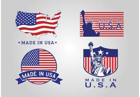 Made In USA Badge Vectors