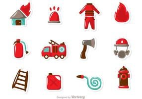 Brandweerman Pictogrammen Vector Pack
