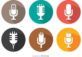 Plat microfoon vectorpakket vector