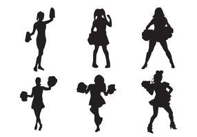 Cheerleader Silhouette Vectoren