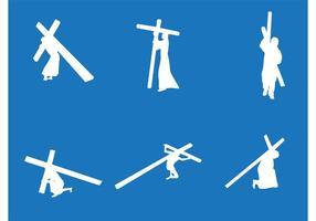 Jezus die de Kruisvectoren draagt