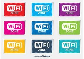 Wifi zone labels vector
