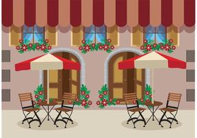 Outdoor Cafe Vector Achtergrond