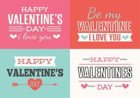 Valentijnsdag etiketten vector