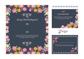 Bloemen Uitnodiging Achtergrond vector