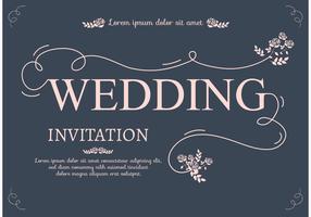 Uitnodigingskaart voor bruiloften vector