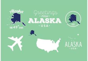 Alaska badges vector