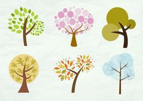 Seizoensgebonden bomen vector