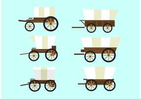 Overdekte wagens vector