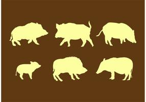 Wilde varkens silhouetten