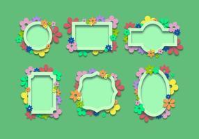 Lente Decoratieve Frames vector