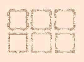 Vintage bruiloft elegante frames vector