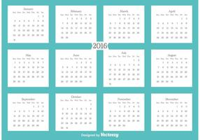 2016 Kalender vector