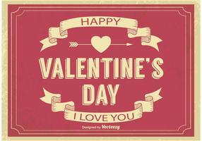 Oude Valentijnsdag Illustratie vector