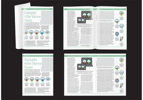Technologie magazine lay-out