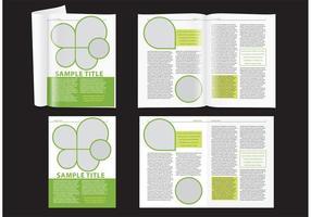 Moderne groene tijdschriftuitleg vector