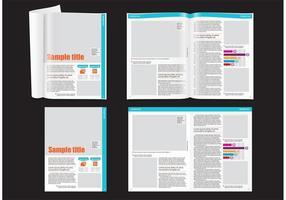 Financieel tijdschrift layout sjabloon vector