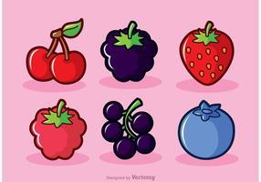 Vruchten van Berry Fruits vector