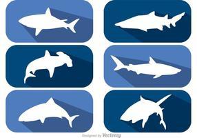 Lange schaduw haai vectoren