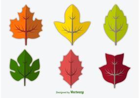 Seizoenbladeren vector