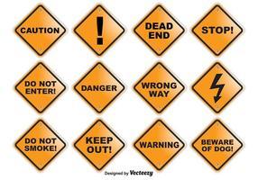 Voorzichtige Vector Signs
