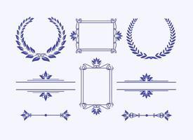 Elegante kaders en kransen vector