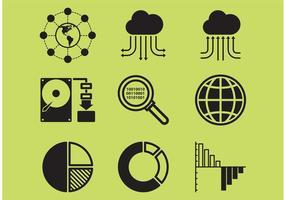 Grote data iconen vector