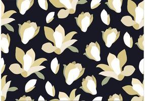 Naadloze Zwarte Bloemenachtergrond vector