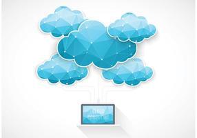 Gratis Vector Cloud Computing Concept