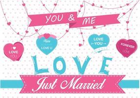 Gewoon getrouwde vector
