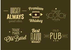 Whisky label vectoren