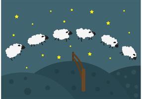 Springende schapen vector achtergrond