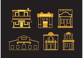 Oude West Town Vectoren
