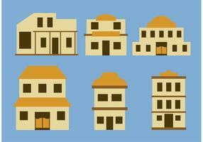Oude westerse stadsbouw vectoren