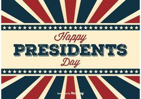 Retro Poster van de Dag van de Presidenten
