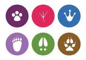 Vector dierlijke voetafdrukken