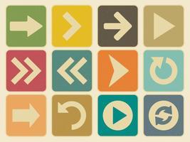 Vintage pijl pictogram set vector