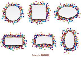 Confetti Party Label Vectoren