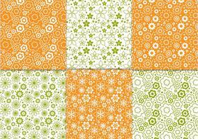 Bloemen veer patroon vectoren