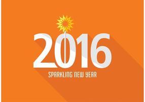 Gratis Creatief Nieuwjaar 2016 Vector Ontwerp