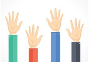 Free Business Hands Reach Vector