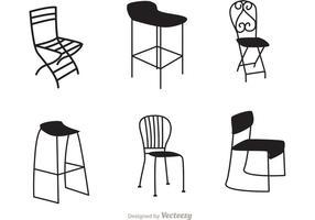 Restaurant zwarte stoelvectoren vector