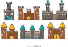 Beeldverhaal kasteel fort vectoren