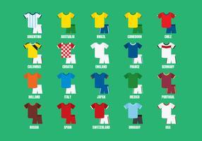 Internationale Sport Jersey Vectoren