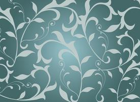 Naadloze Swirly Floral Vector Achtergrond