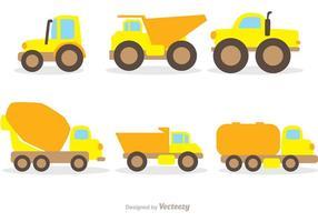 Vlakke Vrachtwagens Vrachtwagen vector