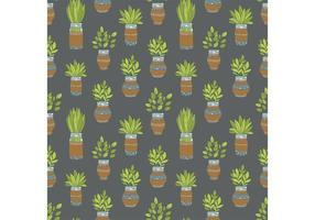 Gratis Mason Jar Plant Vector Patroon