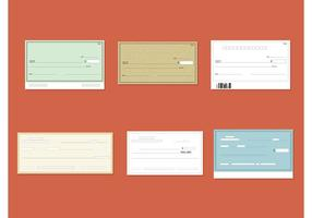 Vector lege cheques