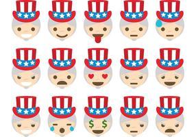 Uncle Sam vector emoticons
