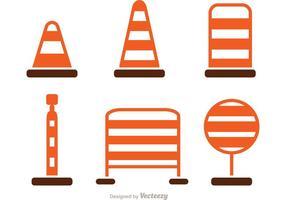 Eenvoudige wegverkeer pictogrammen vector